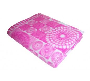 Розовое Байковое жаккард 215х150 арт. 5772ВЖ 75% х/б +25% вискоза х/б Ермолино одеяло