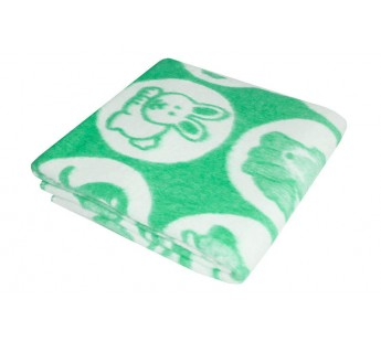 Зеленое Байковое 100х140 арт. 57-5ЕТОЖ 90% х/б Ермолино одеяло
