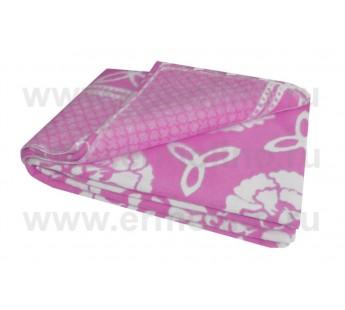 Лиловый ( Пионы ) Байковое жаккард 215х150 100% х/б арт. 5772ВЖК Ермолино одеяло