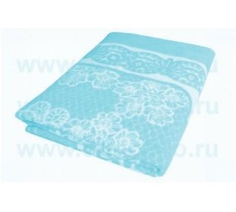 Бирюза Байковое жаккард 215х150 арт. 5772ВЖ 75% х/б +25% вискоза Ермолино одеяло
