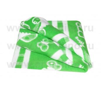 Зеленое Байковое жаккард 100х140 100% х/б арт. 57-8ЕТЖ Ермолино одеяло