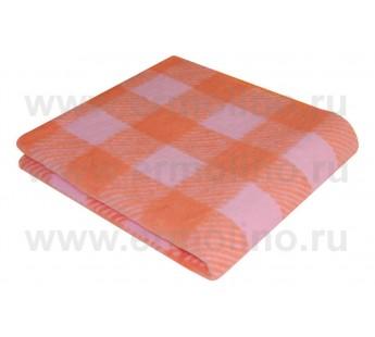 Детское Байковое жаккардовое одеяло Ермолино размер 100х140 100% хлопок оранжевое