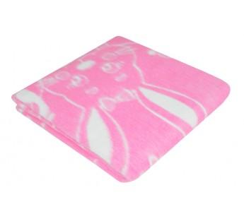 Детское байковое одеяло размер 100х140 Ермошка Розовое