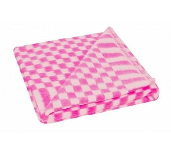 Одеяло Ермолино детское байковое размер 100х140 розовое