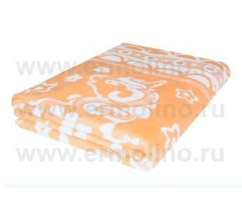 Абрикосовое Байковое жаккард 215х150 100% х/б арт. 5772ВЖК Ермолино одеяло