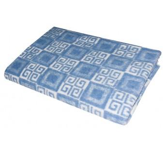 Голубое Байковое жаккард 215х150 арт. 5772ВЖ 75% х/б +25% вискоза Ермолино одеяло