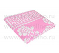 Розовое Байковое жаккард 215х150 100% х/б арт. 5772ВЖК Ермолино одеяло