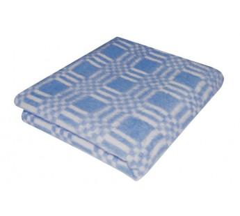 Детское байковое одеяло для новорожденых для мальчика - Синее размер 100х140  Ермошка