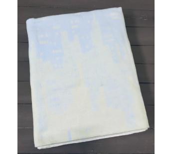 Голубое Мегаполис 5772ВЖК 215х150 100% х/б Байковое жак Ермолино одеяло