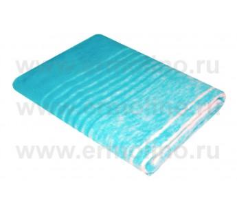 Голубое Байковое жаккард 215х150 100% х/б арт. 5772ВЖК Ермолино одеяло