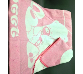"Одеяло байковое детское  ""Сони"" размер 100х140 бело-розовое"