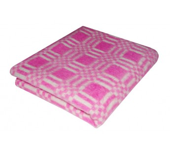 Розовое Байковое 205х140 арт. 5772В 75% х/б +25% вискоза клетка Ермолино одеяло