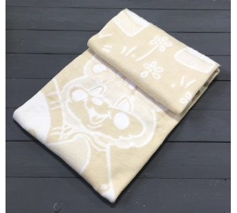 Коричневое Байковое 100х140 арт. 57-5ЕТОЖ 90% х/б Ермолино одеяло