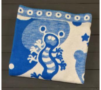 Синее Зверюшки 57-8ЕТЖ 100х140 100% х/б Байковое жак Ермолино одеяло