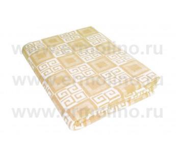 Бежевое Байковое жаккард 215х150 арт. 5772ВЖ 75% х/б +25% вискоза Ермолино одеяло