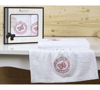 """Комплект полотенец бамбук """"LUCENTE"""" INFISSO 50х90-70х140 см Белый"""