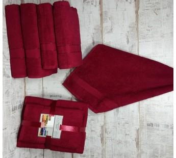 Бордо Волна (50х90х2шт+70х140х2шт) комплект полотенец AISHA