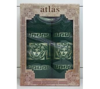 Зеленый Грек Бамбук М 450гр (50х90,70х140) в коробке Атлас