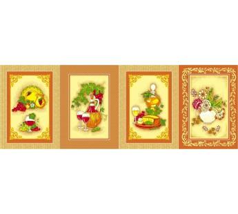 SLL-60 Сыр, Лоза, Лимон 43х62 ( 10 ) Вафля полотенце Дом Текс