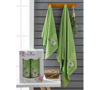10171 Зеленый ROZA (50х90+70х140 ) в коробке Набор полотенец MERZUKA