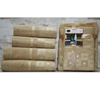 Бежевый Шахматы (50х90+70х140) Комплект полотенец AISHA