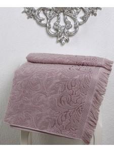 """Полотенце махровое """"KARNA"""" ESRA (50х90) см 1/1 Грязно-розовый"""