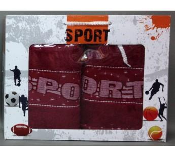 Бордо Спорт махра 450гр (50х90,70х140) в коробке Атлас