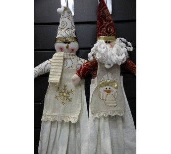 снеговик в фартуке -полотенце (1 шт ) арт. GCK 4345 LIKE TEXTILE