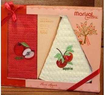 8415 Яблоко Вафля (50х70+D-50 ) в коробке Набор кухонный METEOR MARISOL