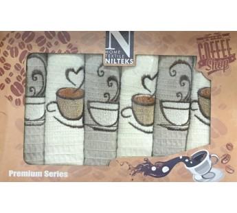 Кофе В ( 40х60 ) х 6шт в коробке Набор полотенец Атлас Текстиль