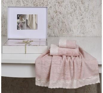 "Компл. полотенец бамбук ""ALTINBASAK"" SVETA (30х50) - (50х90) - (70х140) см Розовый"