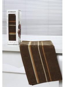 "Полотенце махровое в коробке ""ALTINBASAK"" RAINBOW (50x90) см 1/1 Коричневый"