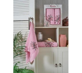9723 Розовый BATIK (50х90+70х140 ) в коробке набор полотенец JUANNA