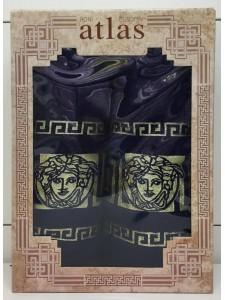 Темно Синий Грек Бамбук М 450гр (50х90,70х140) в коробке Атлас