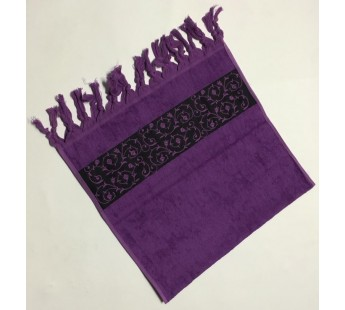 Фиолетовый Classik 70х130 бамбук махра полотенце (1шт) Фиеста