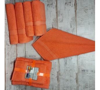 Оранжевый Волна (50х90х2шт+70х140х2шт) комплект полотенец AISHA