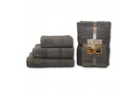 Серый Волна (50х90х2шт+70х140х2шт) комплект полотенец AISHA