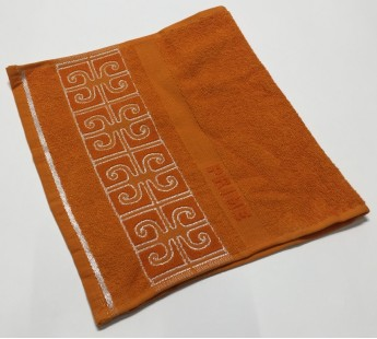 Оранжевый Prime 30х50 хлопок махра полотенце (1шт) Фиеста