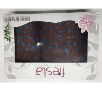 Коричневый Classik Бамбук ( 50х90+70х130 ) в коробке Набор полотенец Фиеста