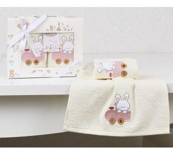 "Салфетки c вышивкой ""KARNA"" детский BAMBINO 30х50 см 1/2 Розовый V5"