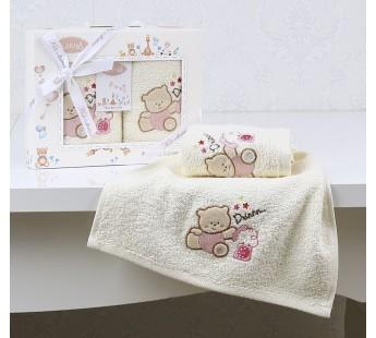 "Салфетки c вышивкой ""KARNA"" детский BAMBINO 30х50 см 1/2 Розовый V4"