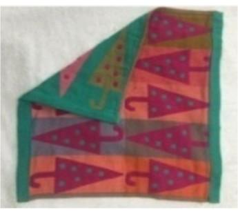 N36 Веселые зонтики Ткань-Лен 34х34 ( 20шт ) салфетка 7-Я