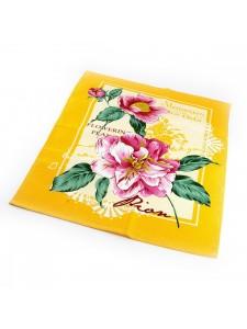 Набор Полотенец ваф. ПИОН желтый-( 3шт. в упаковке ) 50x60 - 3шт в уп. Вальтери Хлопок