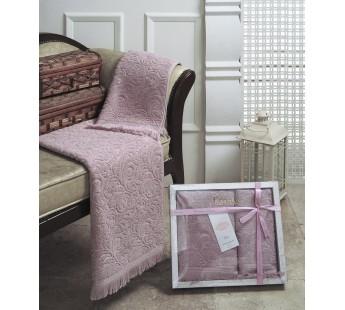 """Комплект махровых полотенец """"KARNA"""" ESRA 50x90-70х140 см Грязно-розовый"""