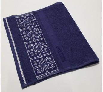 Синий Prime 30х50 хлопок махра полотенце (1шт) Фиеста