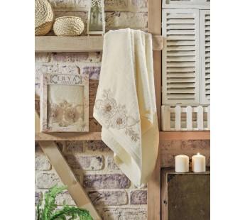 """Полотенце махровое в коробке """"IRYA"""" французский FLEUR гипюром (70x130) см 1/1"""