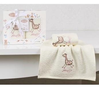 "Салфетки c вышивкой ""KARNA"" детский BAMBINO 30х50 см 1/2 Розовый V2"