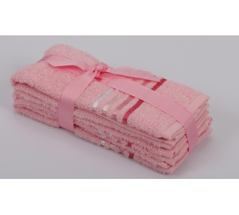 """Салфетки махровые """"KARNA"""" BALE (30x50) см 1/3 Розовый"""