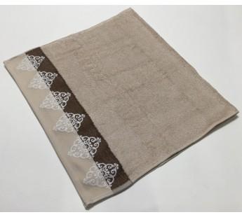 Бежевый Penelopa 70х130 бамбук махра полотенце (1шт) Фиеста