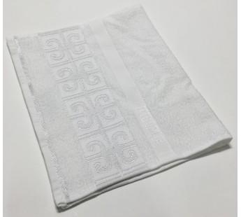 Белый Prime 30х50 хлопок махра полотенце (1шт) Фиеста